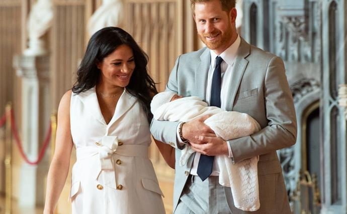 Meghan Markle, Prince Harry and Archie.