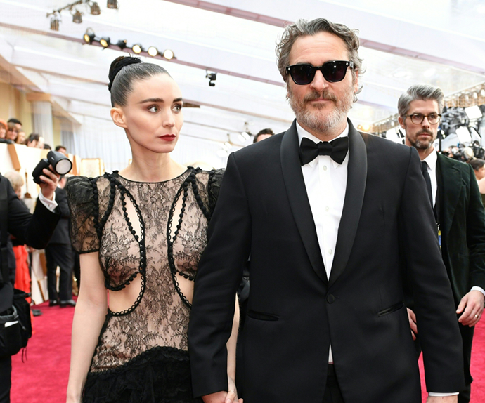 Rooney Mara and Joaquin Phoenix.