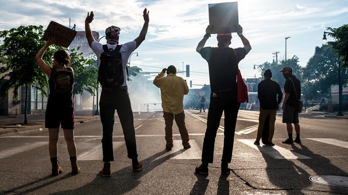 George Floyd protests.