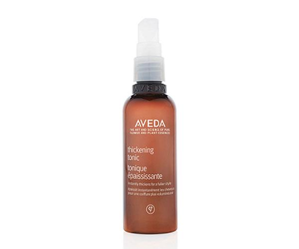 "**Lasting Volume** <br><br> Packing serious volumising punch without any stickiness or crunch, this part-styling mist, part-hair therapy hybrid adds bulk while protecting from heat damage. Your hair will stay bouncy from Friday drinks to Sunday sessions. <br><br> Aveda Thickening Tonic, $39, at [Adore Beauty](https://www.adorebeauty.com.au/aveda/aveda-aveda-thickening-tonic.html?CAWELAID=255000110000138267&CAGPSPN=pla&CAAGID=41821607702&CATCI=aud-55941486023:pla-355458719654&gclid=CjwKCAjwk9HWBRApEiwA6mKWaWfjPCRnbRoO2hzn6W9gyLjGo26YPBtp1eL3a7l17BSm4C0WG2DRVBoCArIQAvD_BwE|target=""_blank"")."