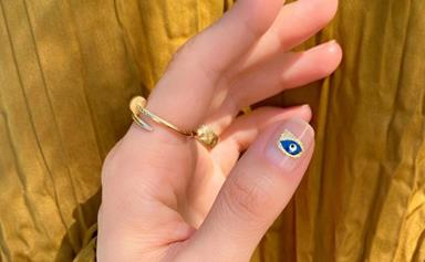 The 'Evil Eye' Nail Trend Is Making A Comeback In 2020 To Ward Off Bad Vibes