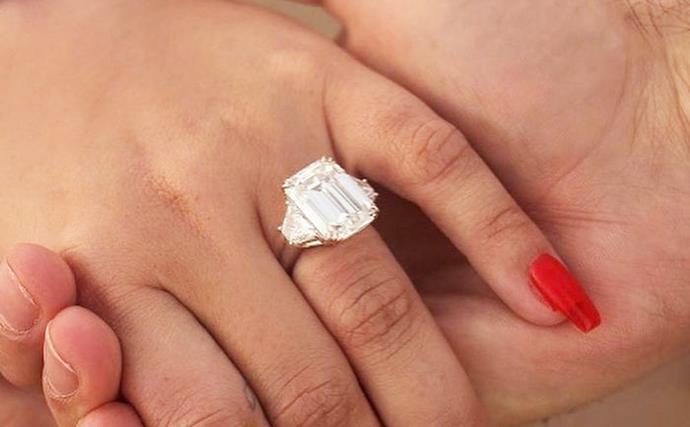 Demi Lovato engagement ring.