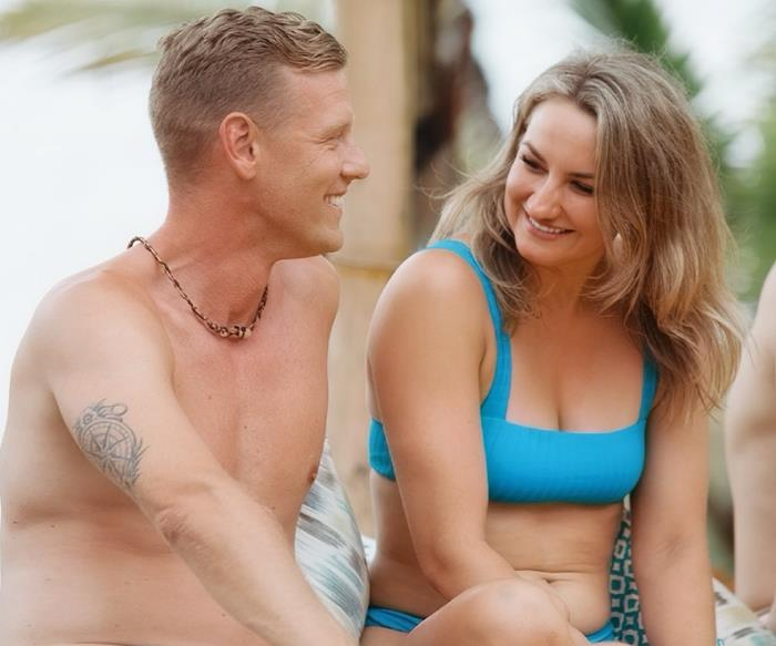Bachelor In Paradise 2020 Australia's Alisha and Glenn.