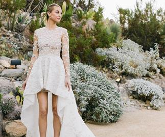 Celebrities who wore short wedding dresses.