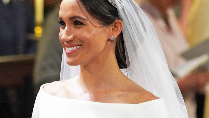 Meghan Markle at her wedding.