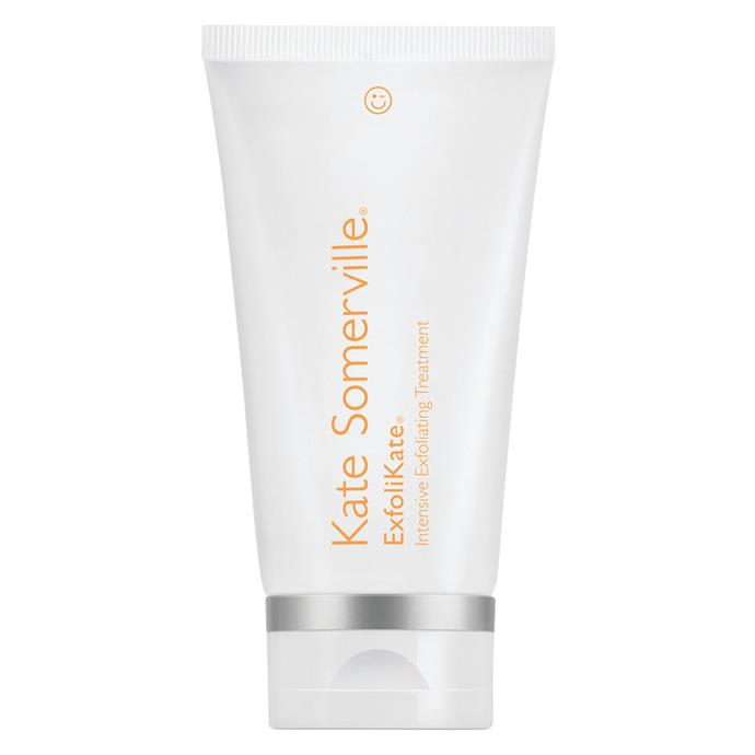 "Clarifying and polishing at the same time, this Kate Somerville face exfoliator is like a facial in a tube.<br><Br> Exfoliating treatment by Kate Somerville, $130 at [MECCA](https://www.mecca.com.au/kate-somerville/exfolikate-intensive-exfoliating-treatment/V-017876.html|target=""_blank""