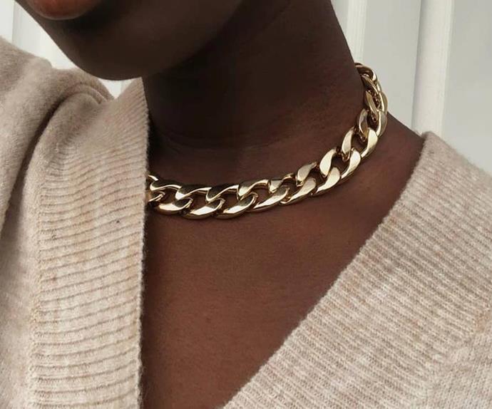 chunky chain jewellery trend.