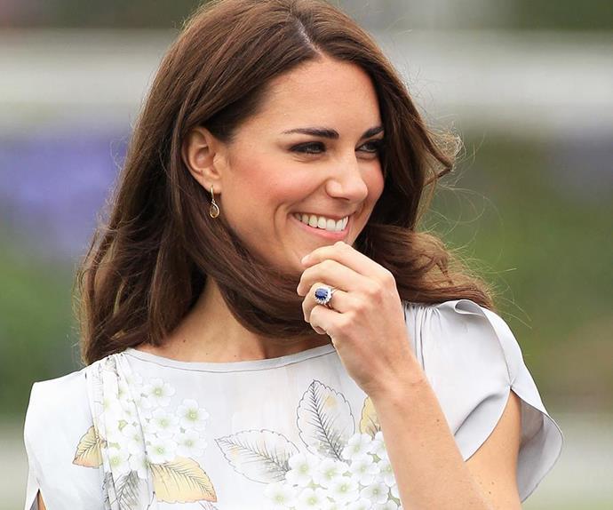 Kate Middleton's engagement ring.