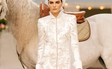 Chanel Threw The World's Chicest Micro-Wedding For Its Spring 2021 Haute Couture Show