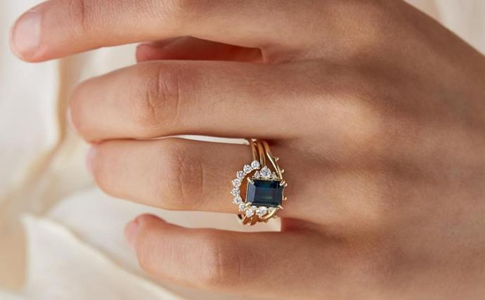 sapphire engagement ring.