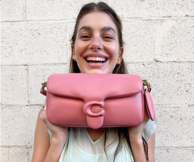 Camila Morrone with the Coach Pillow Tabby bag.