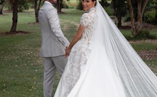 Erin Holland and Ben Cutting at their Byron Bay Wedding.