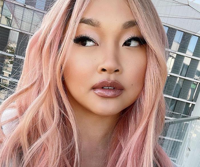 Lana Condor Pink Hair