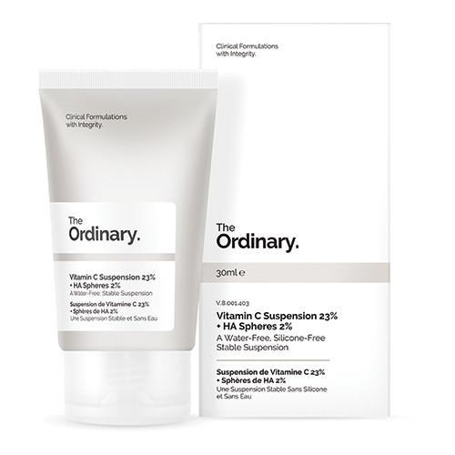"""Vitamin C Suspension 23% + HA Spheres 2% by The Ordinary, $9.80 at [Adore Beauty](https://fave.co/36pcpWm