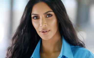 Say Hello To Kim Kardashian's Peak '90s Ultra-Thin Eyebrows In New No-Makeup Throwback