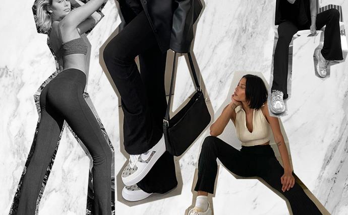 flared leggings yoga pants jazz pants