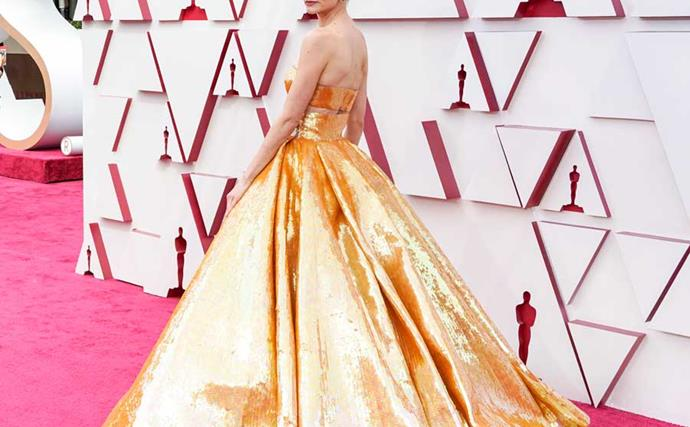 Carey Mulligan Is Red Carpet Perfection In Valentino Two-Piece For The 2021 Oscars