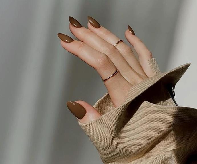 Introducing The 'Chocolate' Manicure, Winter 2021's Favourite New Colour Trend