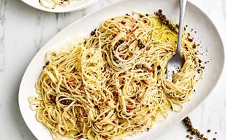 Mixed pepper and pecorino pasta