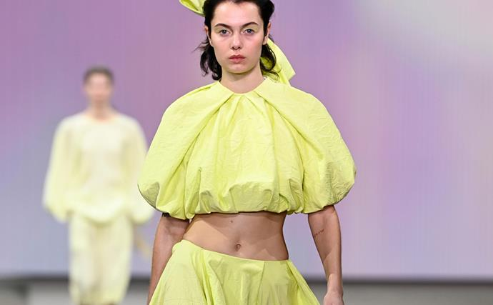 Textured Ball Gowns And Statement Bows, GINGER & SMART's Australian Fashion Week Show Was An Ode To Romantics