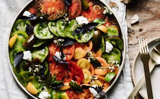 Alla Wolf Tasker's heirloom tomato and house-made ricotta salad