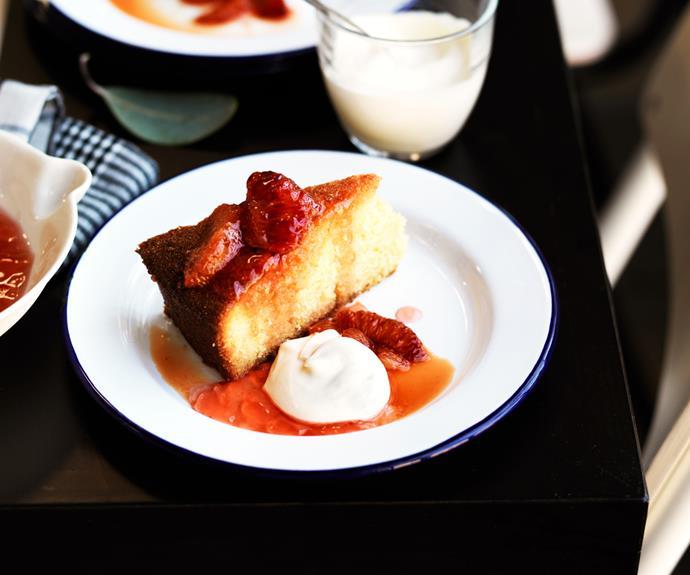 "**[Mike McEnearney's flourless blood orange cake](https://www.gourmettraveller.com.au/recipes/browse-all/blood-orange-cake-11257|target=""_blank"")**"