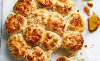 Fennel and thyme scones with hokey pokey butter