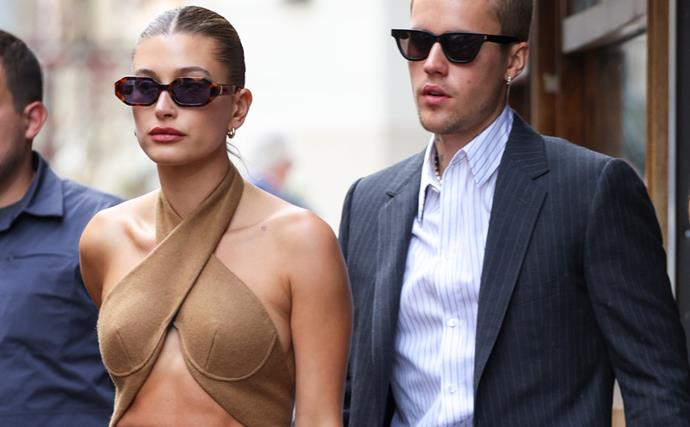 Justin And Hailey Bieber Took Their Hollywood Glam To Paris (For A Meeting With The President)
