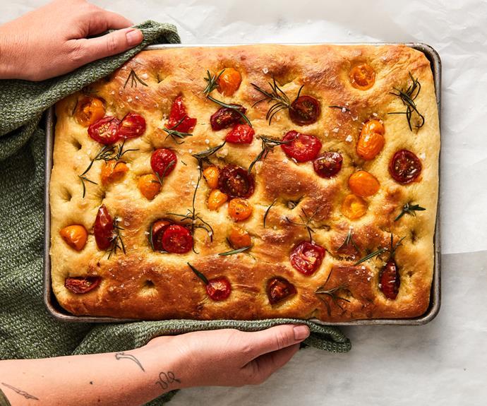 "**[Focaccia](https://www.gourmettraveller.com.au/recipes/explainers/focaccia-recipe-18479 target=""_blank"")**"