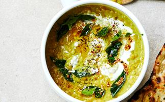 Coconut-curried lentils