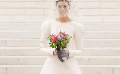 Margaret Qualley Was The Picture Of Bridal Day Beauty In Chanel's Fall Couture Collection