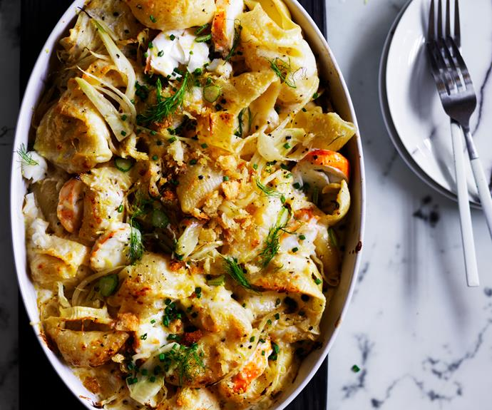 """**[Lobster pasta with lemon crumbs](http://www.gourmettraveller.com.au/recipes/browse-all/lobster-pasta-with-lemon-crumbs-12833 target=""""_blank"""")**"""