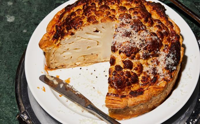 Nik Hill's cauliflower cheese tart