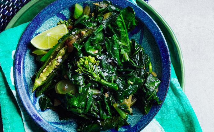 Hamli (Ethiopian braised greens) by Saba's Ethiopian Restaurant