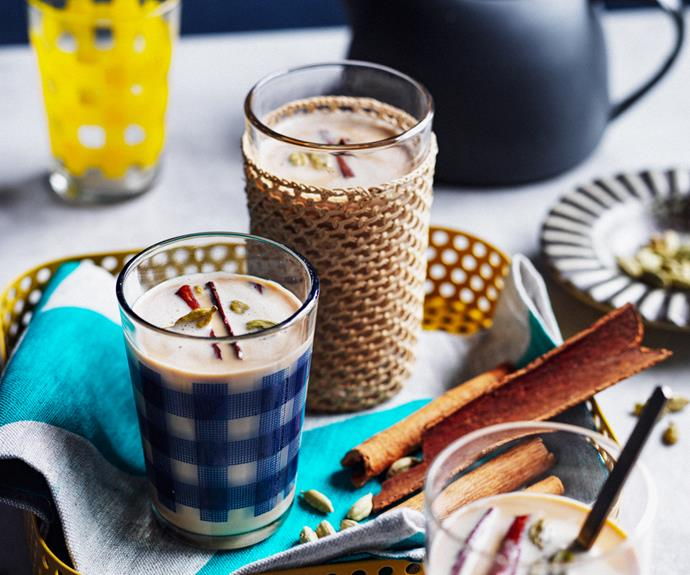 """[**Shy ben laben (white spiced tea)**](https://www.gourmettraveller.com.au/recipes/chefs-recipes/shy-ben-laben-19300 target=""""_blank"""") <br/> """"This is like a chai latte, but so much better,"""" says Alemayoh. """"It's a great winter warmer, especially with a splash of Amarula – a liqueur from South Africa that has lovely earthy flavours."""""""