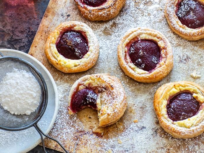 Plum breakfast pastries
