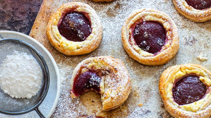 Plum breakfast pastries