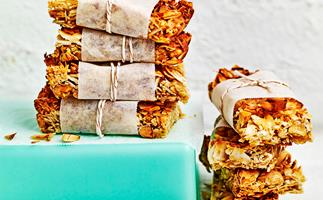 Coconut, almond and ginger bars