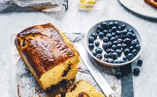 Blueberry breakfast brioche