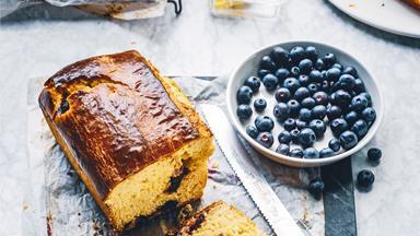 Blueberry breakfast brioche