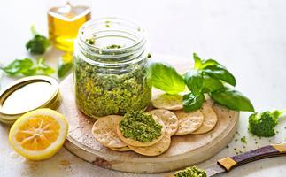 Broccoli and walnut pesto
