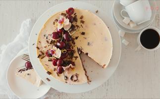 Cherry chocolate cheesecake