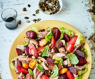 Summer lamb and beetroot salad