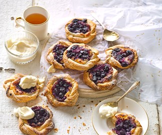 Easy blueberry danish pastries