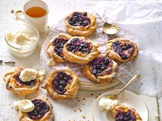 Easy blueberry danish pastries