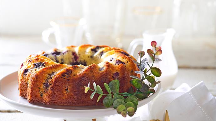 Dairy-free blueberry and almond cake