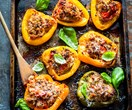 Pork and fennel stuffed capsicums