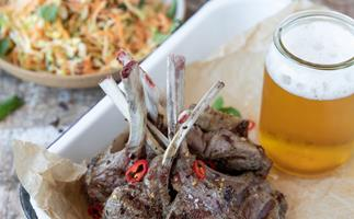 The Backyard Cook's lamb lollipops with carrot and apple slaw