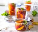 Nectarine and Pimms picnic jelly jars