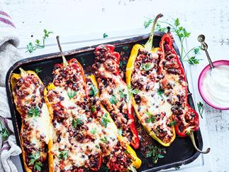 Meatless Mexican stuffed peppers